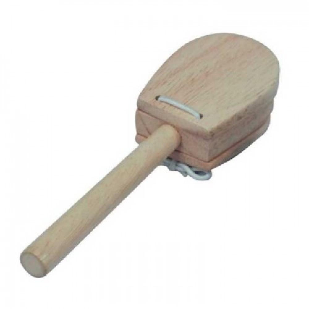 קסטנייטות עץ עם ידית