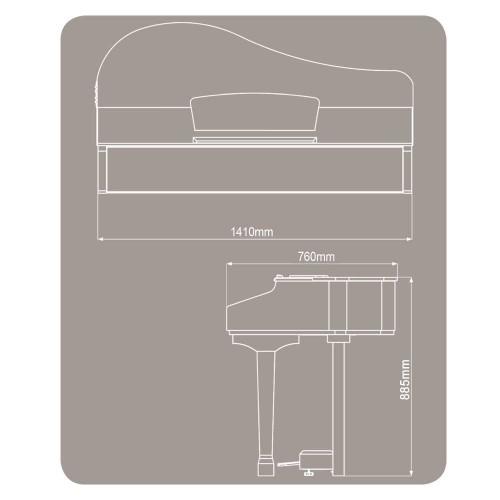 פסנתר כנף חשמלי Ringway GDP1120 BK