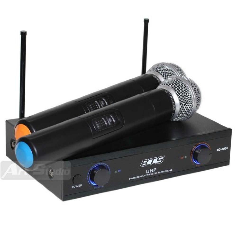 זוג מיקרופונים UHF